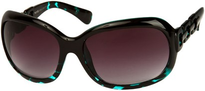 Angle of SW Oversized Style #3070 in Blue Tortoise Frame, Women's and Men's