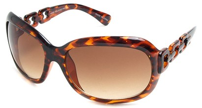 Angle of SW Oversized Style #3070 in Brown Tortoise Frame, Women's and Men's