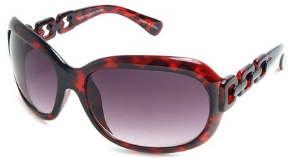 Angle of SW Oversized Style #3070 in Red Tortoise Frame, Women's and Men's