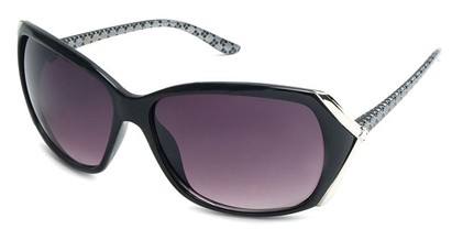 Angle of SW Plaid Style #542910 in Black Frame, Women's and Men's