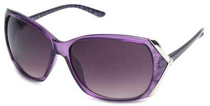 Angle of SW Plaid Style #542910 in Light Purple Frame, Women's and Men's