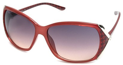 Angle of SW Plaid Style #542910 in Red Frame, Women's and Men's