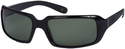 Angle of SW Polarized Style #1949 in Black Frame, Women's and Men's