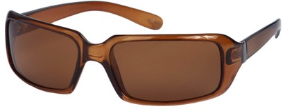 Angle of SW Polarized Style #1949 in Light Brown Frame, Women's and Men's