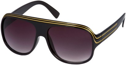 Angle of SW Celebrity Style #1961 in Black and Gold Frame, Women's and Men's