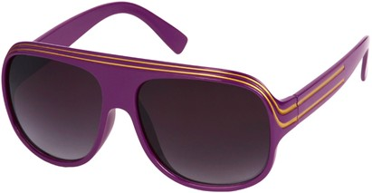 Angle of SW Celebrity Style #1961 in Purple and Gold Frame, Women's and Men's