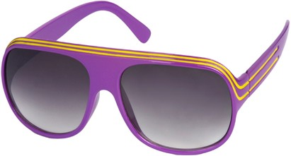 Angle of SW Celebrity Style #1961 in Purple and Yellow Frame, Women's and Men's