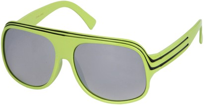 Angle of SW Mirrored Celebrity Style #1963 in Neon Green and Black, Women's and Men's