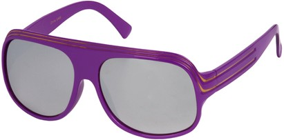 Angle of SW Mirrored Celebrity Style #1963 in Purple and Gold Frame, Women's and Men's