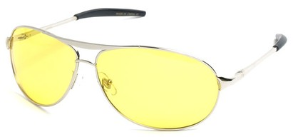 Angle of SW Polarized Driving Style #2045 in Silver Frame, Women's and Men's