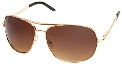 Angle of SW Aviator Style #1586 in Gold Frame, Women's and Men's