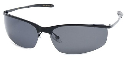 Angle of SW Polarized Style #5012 in Black Frame, Women's and Men's