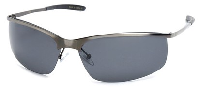 Angle of SW Polarized Style #5012 in Silver Frame, Women's and Men's