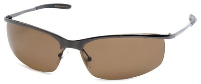 Angle of SW Polarized Style #5012 in Glossy Grey Frame with Amber Lenses, Women's and Men's