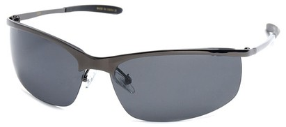 Angle of SW Polarized Style #5012 in Glossy Grey Frame with Smoke Lenses, Women's and Men's