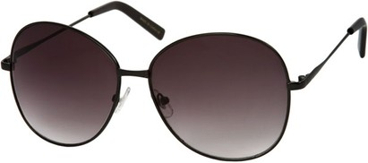 Angle of SW Oversized Style #4790 in Black Frame with Dark Smoke Lenses, Women's and Men's