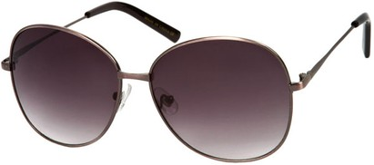 Angle of SW Oversized Style #4790 in Brushed Rose Frame with Dark Smoke Lenses, Women's and Men's