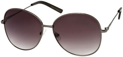 Angle of SW Oversized Style #4790 in Glossy Grey Frame with Dark Smoke Lenses, Women's and Men's