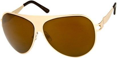 Angle of Tasman #1155 in Gold Frame with Mirrored Amber Lenses, Women's and Men's Aviator Sunglasses