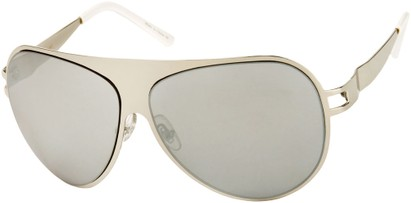 Angle of Tasman #1155 in Silver Frame with Mirrored Silver Lenses, Women's and Men's Aviator Sunglasses