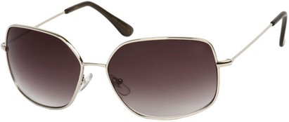 Angle of SW Oversized Style #1847 in Silver Frame with Smoke Lenses, Women's and Men's