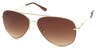Angle of SW Aviator Style #18600 in Gold, Women's and Men's