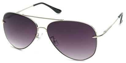 Angle of SW Aviator Style #18600 in Silver, Women's and Men's
