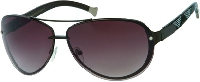 Angle of Cornerstone #310 in Black Frame with Smoke Lenses, Women's and Men's Aviator Sunglasses