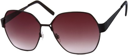 Angle of Lanai #13499 in Black Frame, Women's Round Sunglasses