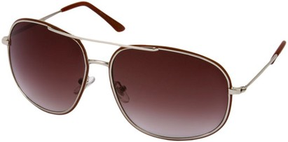 Angle of SW Aviator Style #13992 in Silver/Red Frame with Grey Lenses, Women's and Men's