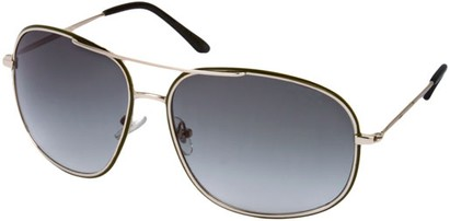 Angle of SW Aviator Style #13992 in Silver/Green Frame with Green Lenses, Women's and Men's