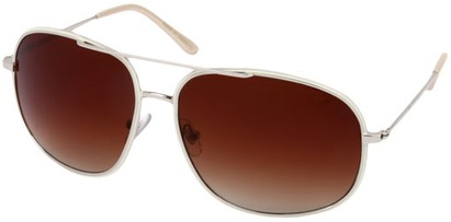 Angle of SW Aviator Style #13992 in Silver/White Frame with Amber Lenses, Women's and Men's