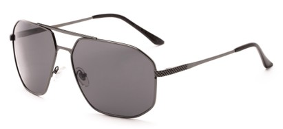 Angle of Moor #2074 in Grey Frame with Grey Lenses, Men's Aviator Sunglasses