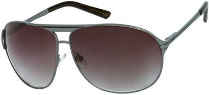 Angle of SW Aviator Style #306 in Matte Grey Frame with Smoke Lenses, Women's and Men's