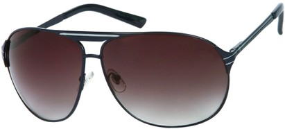Angle of SW Aviator Style #306 in Matte Navy Blue Frame with Smoke Lenses, Women's and Men's