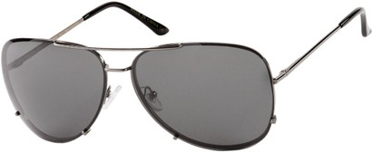 Angle of Calgary #5387 in Grey Frame with Grey Lenses, Women's and Men's Aviator Sunglasses