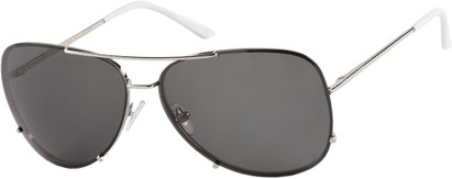 Angle of Calgary #5387 in Silver Frame with Grey Lenses, Women's and Men's Aviator Sunglasses