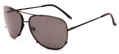 Angle of Cyclone #20955 in Black Frame with Grey Lenses, Women's and Men's Aviator Sunglasses