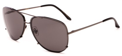 Angle of Cyclone #20955 in Grey Frame with Grey Lenses, Women's and Men's Aviator Sunglasses