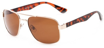 Angle of Oman #2095 in Gold/Tortoise Frame with Amber Lenses, Women's and Men's Aviator Sunglasses