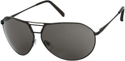 Angle of SW Aviator Style #1617 in Matte Black Frame with Dark Grey Lenses, Women's and Men's