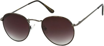 Angle of Marco   #1277 in Grey Tortoise Frame with Dark Smoke Lenses, Women's and Men's Round Sunglasses
