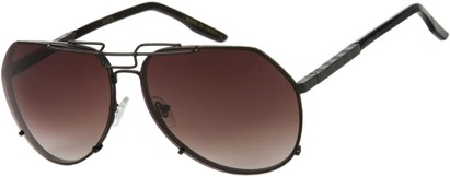 Angle of SW Aviator Style #1445 in Black Frame with Smoke Lenses, Women's and Men's