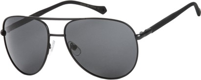 Angle of SW Polarized Aviator Style #542 in Black Frame with Grey Lenses, Women's and Men's