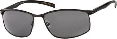 Angle of Summit #8098 in Black Aluminum Frame with Grey Lenses, Women's and Men's Square Sunglasses