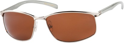 Angle of Summit #8098 in Silver Aluminum Frame with Orange Lenses, Women's and Men's Square Sunglasses