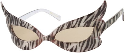 Angle of SW Novelty Sunglasses #31168 in Zebra Print, Women's and Men's