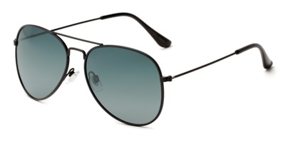 Angle of Antigua #2169 in Black Frame with Green Gradient Lenses, Women's and Men's Aviator Sunglasses