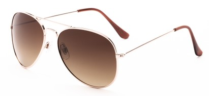 Angle of Antigua #2169 in Gold Frame with Amber Gradient Lenses, Women's and Men's Aviator Sunglasses
