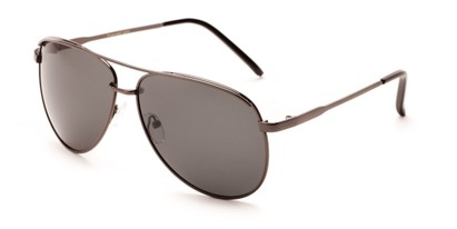 Angle of Hammer #2182 in Grey Frame with Dark Grey Lenses, Women's and Men's Aviator Sunglasses
